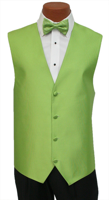 """Red Sleeve """"Reflection"""" Vest and Bow Tie in Green Apple"""