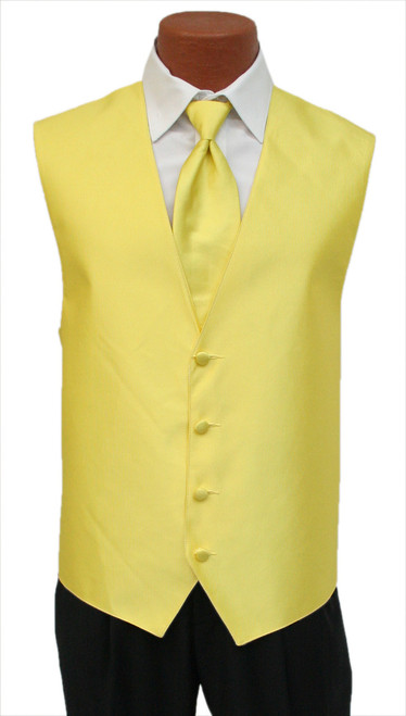 "Red Sleeve ""Reflection"" Vest and Tie in Sunflower"