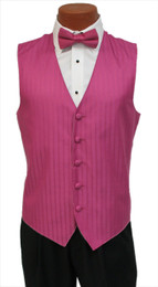 "After Six ""Radar"" Vest and Bow Tie in Fuchsia Watermelon"