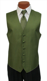 "After Six ""Radar"" Vest and Bow Tie in Olive Green"