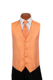 Sterling Vest and Tie Set in Creamsicle