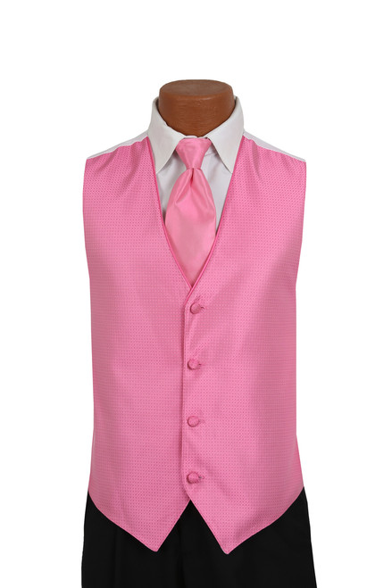 Sterling Vest and Tie Set in Fuschia