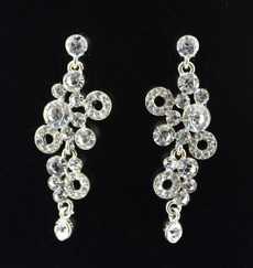 Clear Rhinestone Bubble Drop Earring  (CD6682CR)
