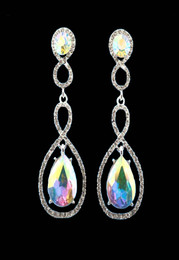 Teardrop Twist Iridescent Earring Cristal D'Or #6941AB