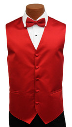 Red Satin Fullback Vest