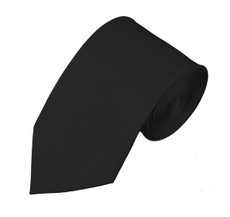 "Black Slim 2.75"" Self Tie Long Tie"