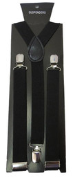 Men's New Black Suspenders