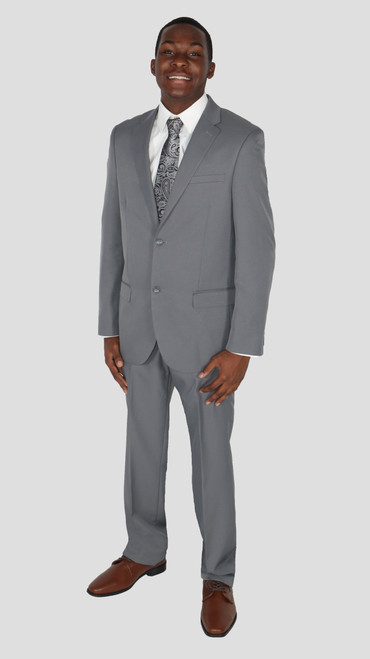Light Gray Caravelli Slim Fit Suit