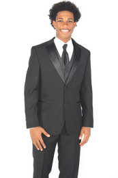 New Black Slim Fit Tuxedo Jacket and Pant.