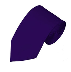 "Dark Purple Slim  Self Tie Long Tie 2.75"" x 58"""