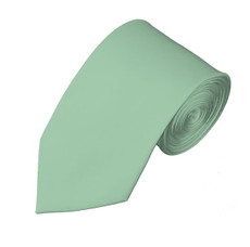 "New Light Sage  Satin Slim Self Tie Long Tie 2.75"" X 58"""