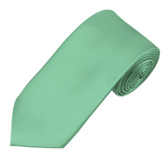 "Mint Green Self Tie Satin Long Tie 2.75"" X 58"""