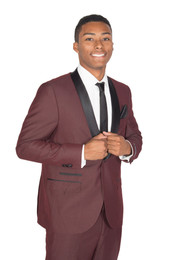 Burgundy West End Slim Fit Tuxedo
