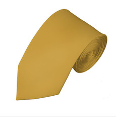 "New Honey Gold  Satin Slim Long Tie  2.57"" X 58"""