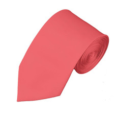 "New Satin Coral Rose Slim Long tie 2.75"" X 58"""