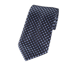 "Metallic Blues on Black Slim Long Tie Self Tie 2.75"" X 58"""