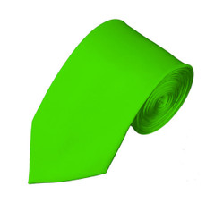 "Lime Green Satin Slim Self Tie Long Tie 2.75"" X 58"""
