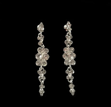 Cristal D' Or Crystal Silver Earrings #CD-6911