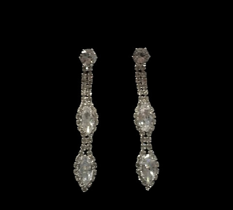 Cristal D' Or Crystal Silver Earrings #CD-7680