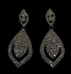 Cristal D' Or Silver AB Earrings #CD-7250