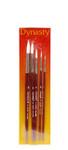 406902, White Nylon Watercolor Brush Set, 5/pc.