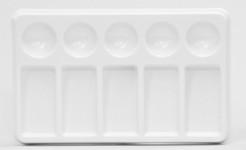 "419104, Plastic Palette Tray, 5 Well,5 Slant 7 1/2""x4 1/2"""