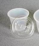 419116, Clear Plastic Lids 1oz., 100/