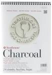 "347075, Strathmore Charcoal 500 Series White, 9""x12"""