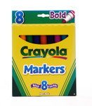 438017, Crayola Markers, Conical Tip, 8 Bold Colors