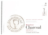 "347077, Strathmore Charcoal 500 Series White, 18""x24"""