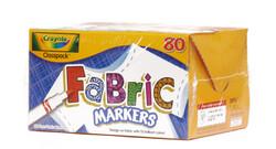 438357, Crayola Fabric Markers, Fine Tip, 80 Marker Classpack