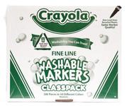 438023, Crayola Washable Markers, Fine Tip, 200 Marker Classpack