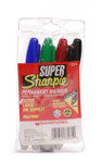 437923, Sharpie Set, Super, Assorted, 4/markers