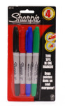 437937, Sharpie Set, Twin Tip, Assorted, 4/Markers
