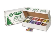 438147, Crayola Crayons, Regular, 8 colors, 800 ct. Classpack