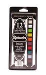 """447400, Alphacolor Soft Pastels, 12color Set, 2 1/4""""x7/16""""stick"""