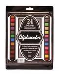 """447401, Alphacolor Soft Pastels, 24color Set, 2 1/4""""x7/16""""stick"""