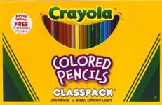 446511, Crayola Colored Pencil Classpack, 240 count