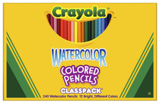 446507, Crayola Watercolor Pencils Classpack, 240 count