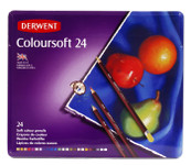 446342, Derwent Coloursoft Pencils, 24 color Set