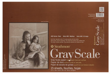 """347126, Strathmore Gray Scale 400 Series Pad, 12""""x18"""""""
