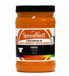 629110, Speedball  Waterbased Textile Screen Printing Ink, Orange, 32oz.