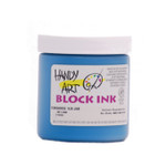 625017, Handy Art Water Soluble Block Printing Ink, Turquoise, 1/2 lb. Jar