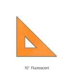 576010, Triangle 45degree, Fluorescent, 10""