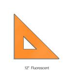 """576012, Triangle 45degree, Fluorescent, 12"""""""