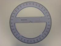 "571506, Full Circular Acrylic Protractor, 10"""