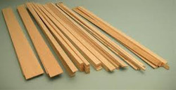 "630523, Balsa Wood Sticks 36"" Length, 1/8""x3/8"", 25/pk"