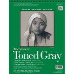 "341782, Toned Sketch - 400 Series, Gray,  11""x 14""  24 sheets per pad"