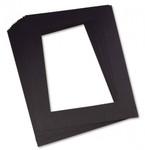 343206, Pacon Pre-Cut Mat Frames, Black, 9x12