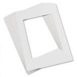 """343208, Pacon Pre-Cut Mat Frames, WHITE,  9""""x12"""""""